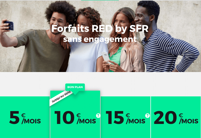 RED SFR forfaits mobiles