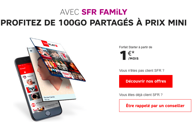 avantage SFR Family forfait