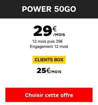Power 50 Go sfr