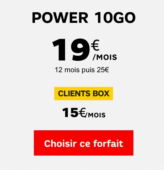 SFR power forfait
