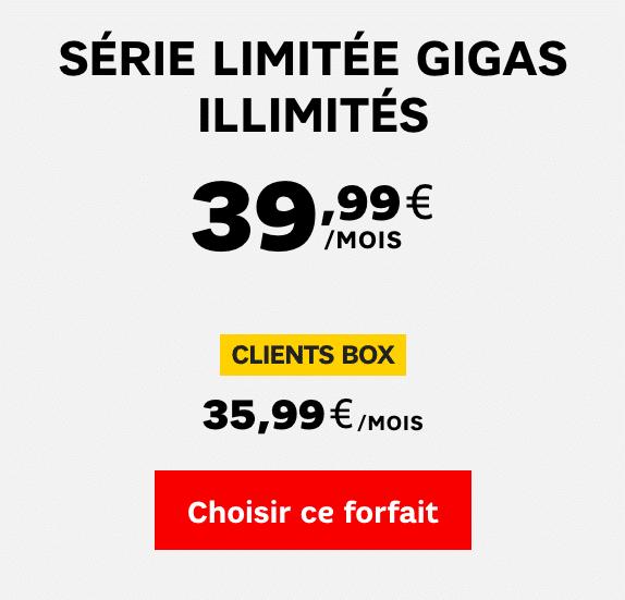 SFR serie 4G illimitee