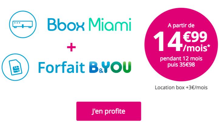 Bbox Miami forfait B&You