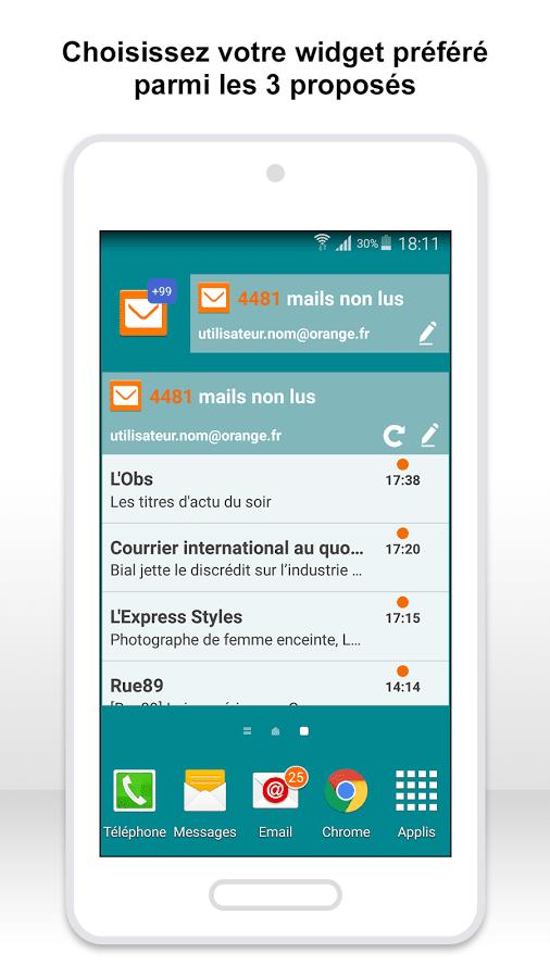 Application Email Orange