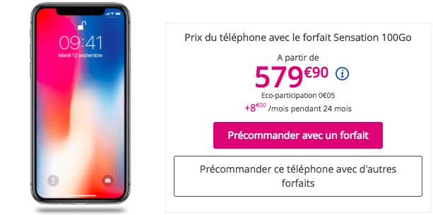 iPhone X bouygues telecom