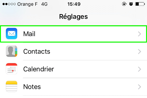 Configurer mail Orange sur iPhone