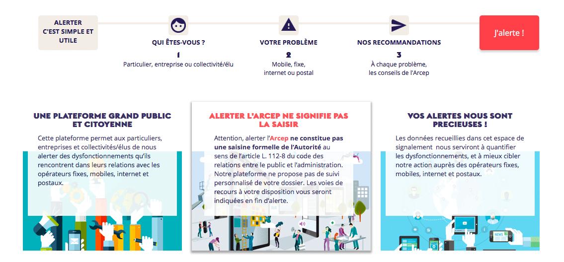 L'ARCEP propose désormais aux particuliers, collectivités et entreprises de signaler les problèmes de réseau.