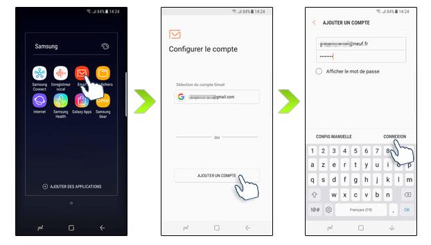Il suffit de quelques minutes pour configurer une adresse mail SFR avec Android.