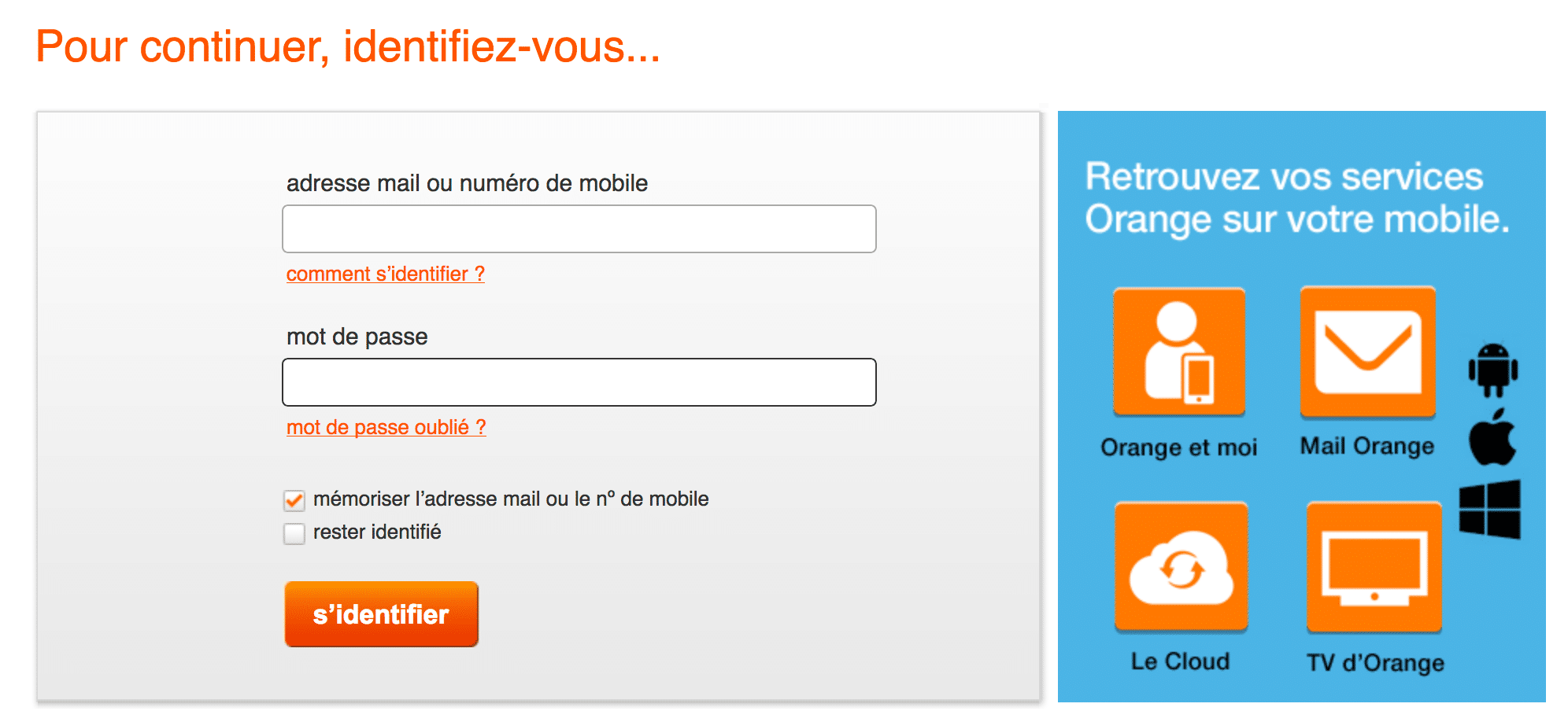 Adresse e-mail Orange