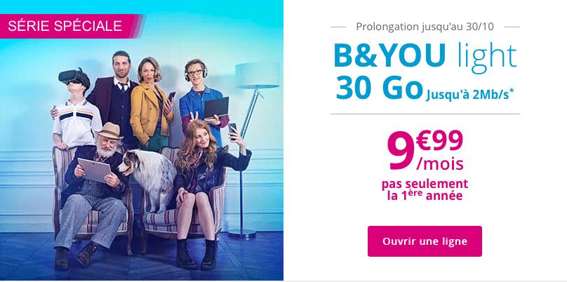 Vous avez jusqu'au 30 octobre pour profiter de l'offre B&You Light de Bouygues Télécom
