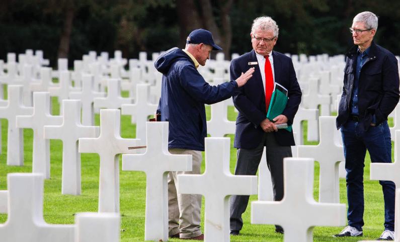 Tim Cook a rendu hommage aux soldats américains