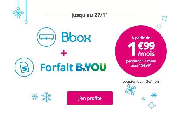 forfait B&you 24/24 gratuit