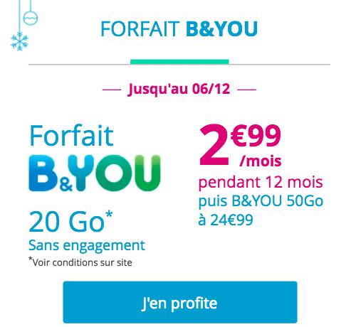 B&You 20 Go à 2,99€