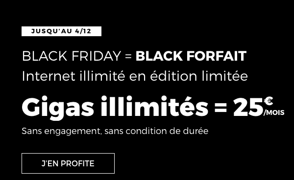 forfait Black Friday RED