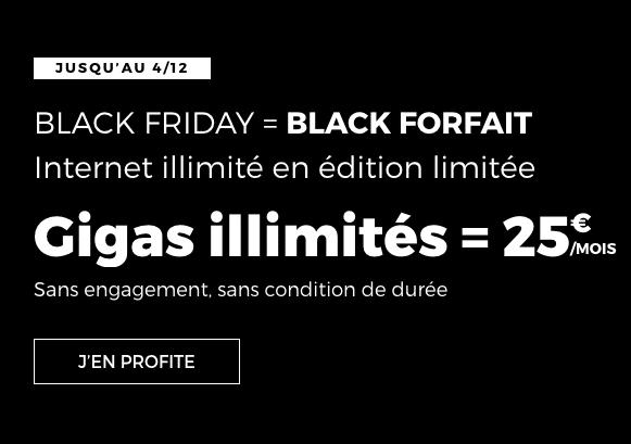 black forfait RED promo