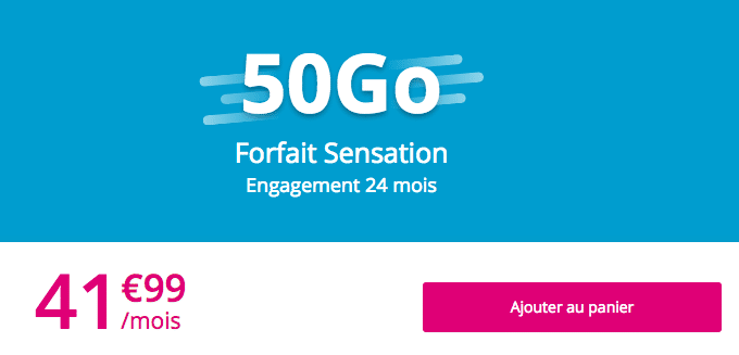 Sensation 50 Go forfait