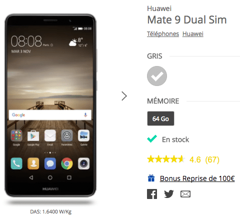 promo Mate 9 bouygues