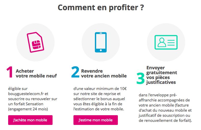 Bouygues telecom bonus reprises