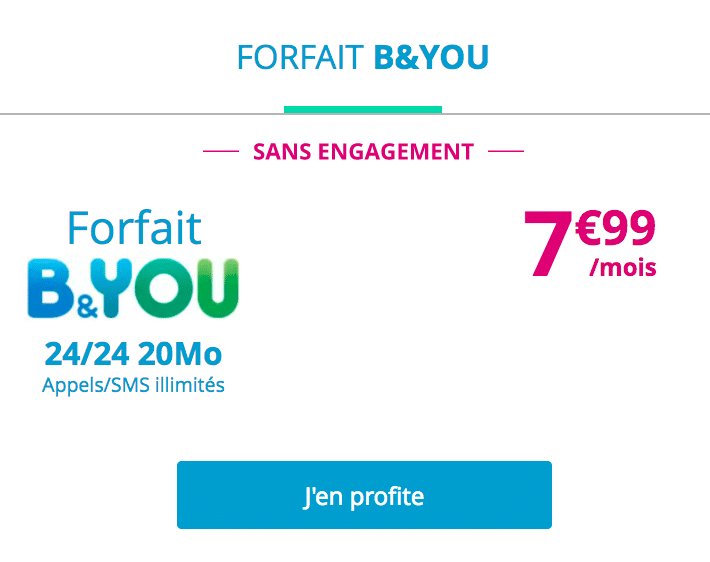 Bouygues telecom forfaits