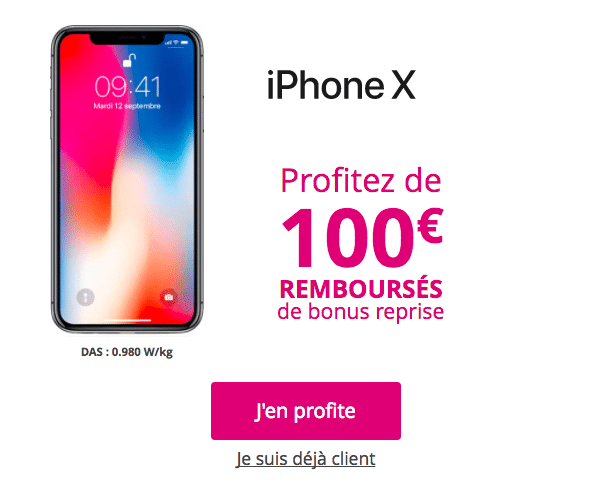 Bouygues telecom iPhone X