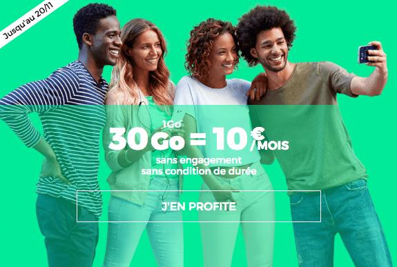 Le forfait à 10€ de RED by SFR
