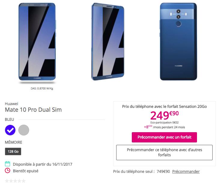 Huawei Mate 10 Pro Bouygues