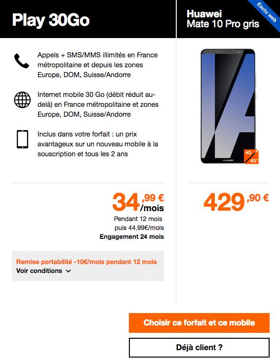 Huawei Mate 10 Pro Orange