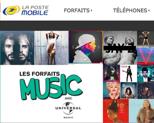 La Poste Mobile et ses offres musique