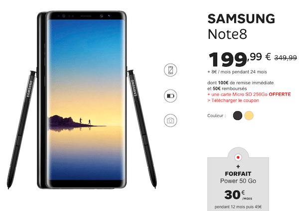 Galaxy Note 8 forfait sfr