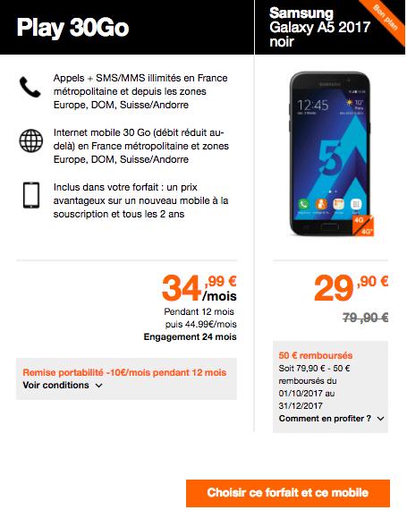Samsung Galaxy Orange