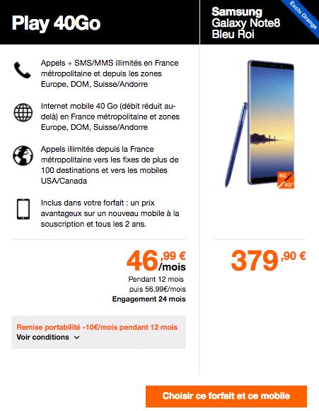 Orange Galaxy Note 8