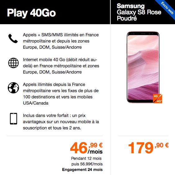 forfait Play 40 Go S8