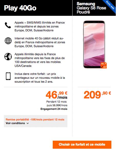 Samsung Galaxy S8 Orange