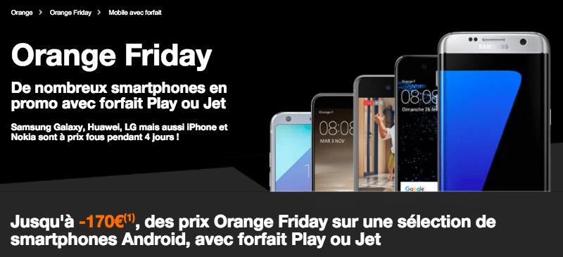 le black friday orange 200 de rabais sur l 39 iphone 7 et d 39 autres mobiles. Black Bedroom Furniture Sets. Home Design Ideas