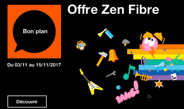 Orange fibre optique zen