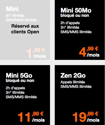 Orange forfait mini Zen