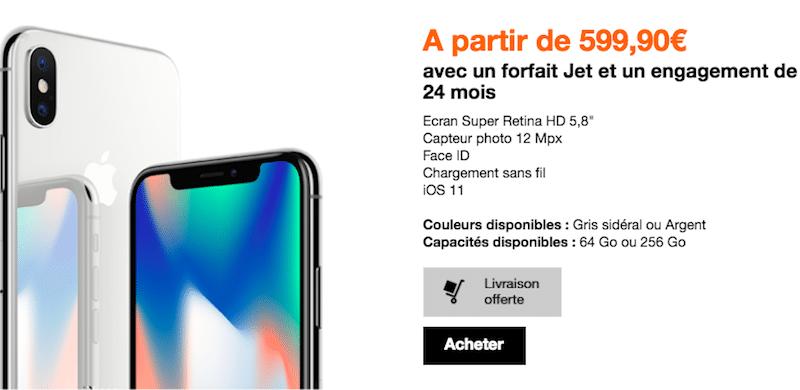 Orange Apple iPhone X