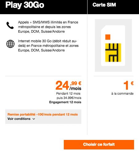 forfait Orange 4G