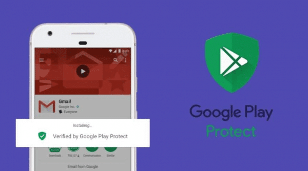 Google Play Protect réduit les risques d'infection de virus.