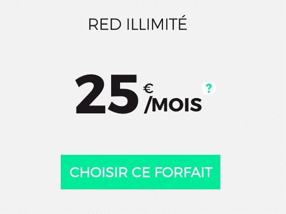 La 4G illimitée de RED by SFR