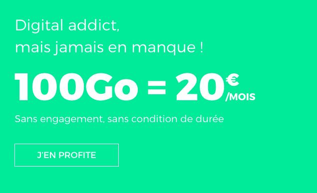 100 Go pour 20€ avec RED by SFR