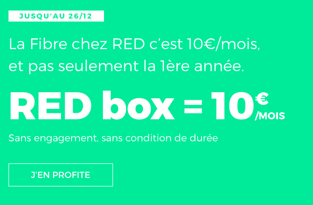 La fibre optique de RED by SFR à 10€ ar mois