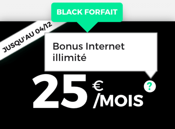 RED by SFR forfait black friday