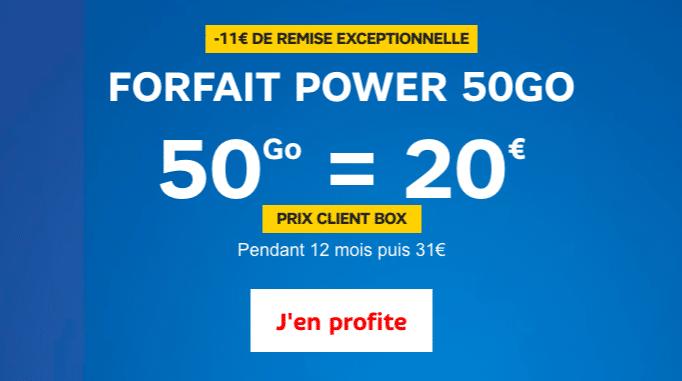 Le forfait 50 Go de SFR