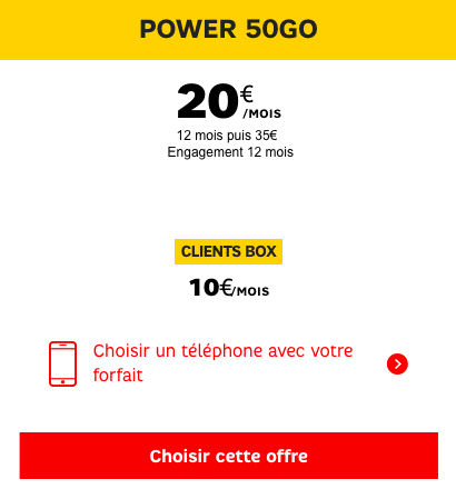 SFR black friday power 50