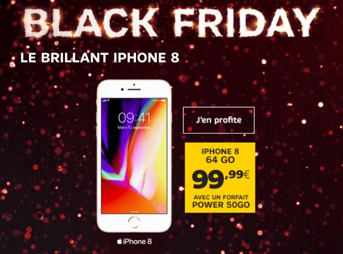 SFR Black friday iphone 8