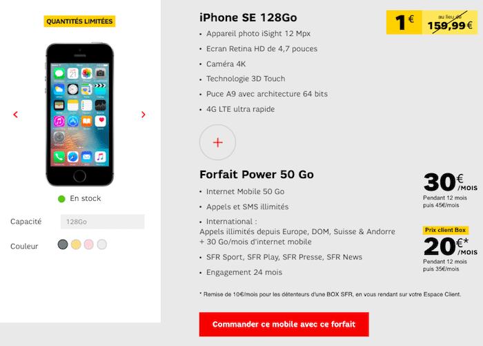 iPhone SE Apple SFR