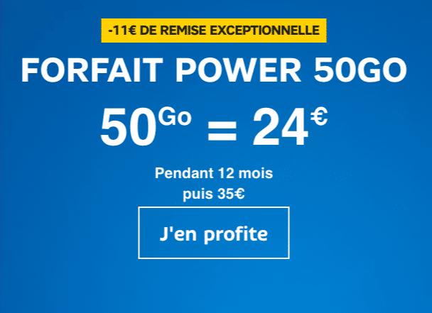 SFR propose 50 Go pour 24€