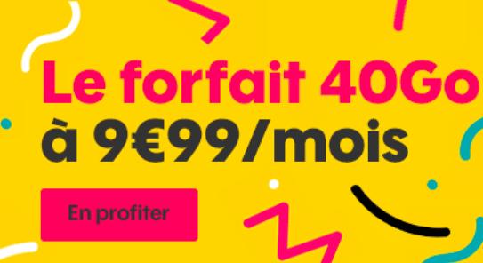 Sosh 40 Go 9,99€