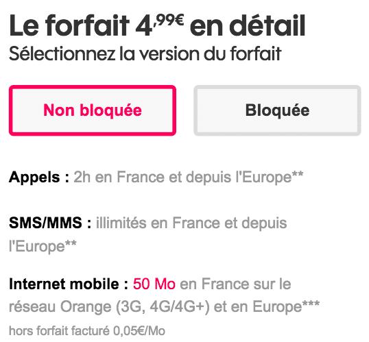 forfait bloqué Sosh