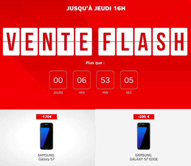 Vente flash SFR samsung